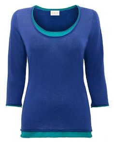 Double Layer Gauze Jumper at http://www.east.co.uk/gauze-jumper-double-layer-blue/