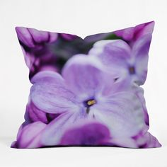 Chelsea Victoria Lilac Lilac Throw Pillow | DENY Designs Home Accessories