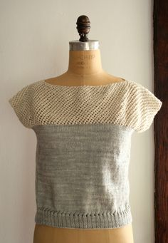 Cap Sleeve Lattice Top - Great Free Summer Knit Pattern