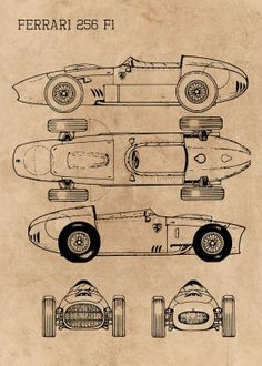 VINTAGE 1957 FERRARI 335S RACE CAR POSTER PRINT 24x36 HI RES 9 MIL PAPER