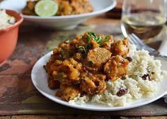 Creole Chicken with Coconut Cauliflower Rice