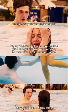 Wotsit legs!! -- Angus, Thongs and Perfect Snogging. Love this movie