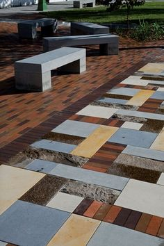 Wonderful paving pattern.  Balfour Street Pocket Park by Jane Irwin Landscape Architects (JILA), Australia