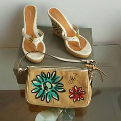 Coach Shoes   Matching Coach Purse And Shoes For The Summer   Poshmark Coach Shoes, Summer Colors, Fashion Design, Fashion Tips, Fashion Trends, Coach Purses, Saddle Bags, Shoes Sandals, Butterfly