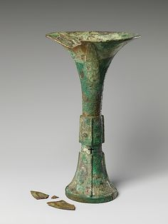 Wine Beaker Shang dynasty ca. 1600–1046 BCE China Bronze, H. 11 1/4 in.
