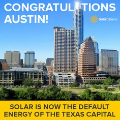 The city of Austin in Texas recently made solar its default energy source - based purely on economics!   The state capital has set a target of producing 65% of its energy from solar by 2025 as a way to attain an affordable, stable energy supply.  They're also aiming to double the amount of rooftop solar on local homes.  Read more here: http://bit.ly/1sEpMJy  (Photo via Stuart Seeger, Flickr)