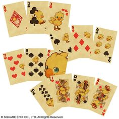 CHOCOBO PLAYING CARD DECK | #FinalFantasy