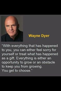 Dr. Wayne Dyer; Internationally Renowed Motivational Speaker, and Best-Selling Author of many books.