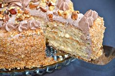 "Delights of Culinaria: ""Squirrel Cake"" with nuts or Торт ""Белочка"" с орехами"