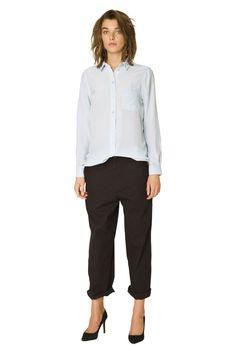 Favourite Shirt Silk Shirt Solid, Baby Blue