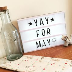 Yay for May. Home to a fresh start & a Spring clean by missnikzy Cinema Light Box Quotes, Cinema Box, Light Quotes, Mini Lightbox, My Cinema Lightbox, Marquee Sign, Marquee Lights, String Lights, Lead Boxes
