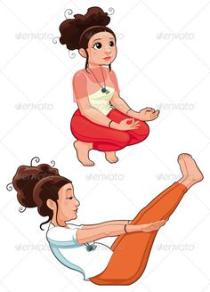 Yoga Positions  #GraphicRiver         Yoga Positions. Funny cartoon and vector isolated illustration.   Folder contains:   EPS file; High Resolution JPG file; High Resolution PSD file; High Resolution PNG files.     Created: 28May12 GraphicsFilesIncluded: PhotoshopPSD #TransparentPNG #JPGImage #VectorEPS Layered: No MinimumAdobeCSVersion: CS Tags: Agility #adorable #aum #balance #body #cartoon #chakra #character #color #comic #cute #divinity #expression #funny #girl #gymnastics…