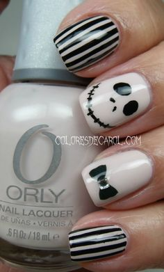 the nightmare before Christmas nails. My favorites ones. Best ones I've seen on Pinterest!