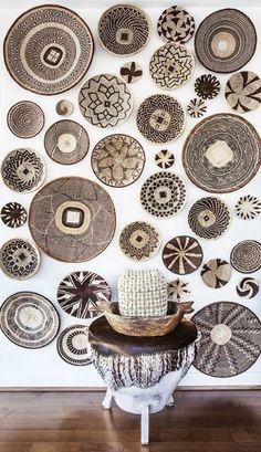 Resultado de imagen de cestos en pared decoracion