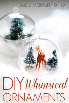 DIY woodland ornaments