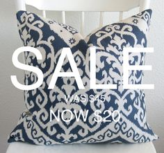 SALE  Decorative pillow cover  Ikat pillow  by chicdecorpillows, $20.00