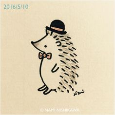 848    #illustration #hedgehog #イラスト #ハリネズミ #illustagram