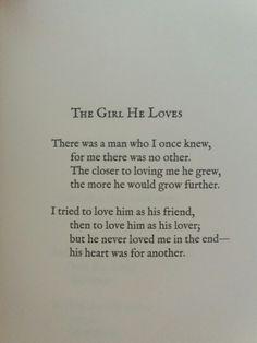 The girl he loves- Lang Leav