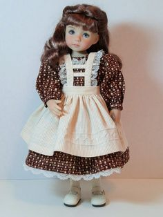 """Fall Dress, Pinafore, and Petticoat for 13"""" Dianna Effner Little Darling"""