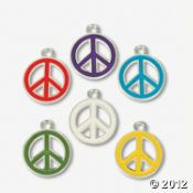 Peace Symbol Enamel Charms  IN-48/9007  $7.00  36 Piece(s)