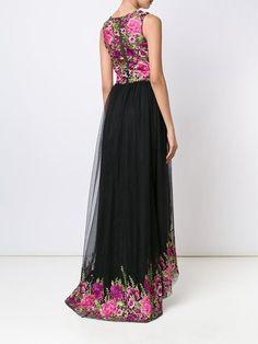 Marchesa Notte floral print gown
