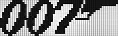 Alpha Pattern #7773 Preview added by olivia7799 James Bond 007