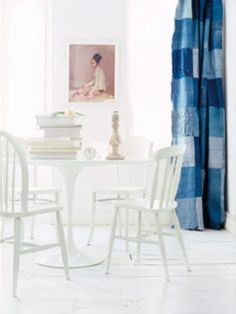 How to sew a curtain using old jeans