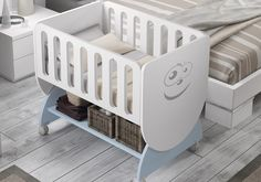 Wooden Baby Cot, Baby Crib Diy, Baby Doll Bed, Doll Beds, Baby Nursery Bedding, Baby Bedroom, Baby Cribs, Kids Bedroom, Funky Furniture
