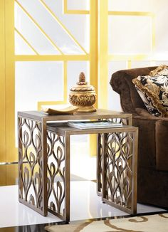 Bob Mackie Home Nesting Tables-Metal | American Drew | Home Gallery Stores