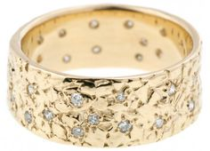Custom Dais Band with Scattered Diamonds by Bario Neal