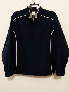 Sag Harbor - Women's Jacket - Size 2X - Blue Sports Windbreaker with Net Lining & Zip Up Front #SagHarbor #Windbreaker  ..... Visit all of our online locations..... www.stores.eBay.com/variety-on-a-budget ..... www.amazon.com/shops/Variety-on-a-Budget ..... www.etsy.com/shop/VarietyonaBudget ..... www.bonanza.com/booths/VarietyonaBudget ..... www.facebook.com/VarietyonaBudgetOnlineShopping      http://www.stores.ebay.com/variety-on-a-budget