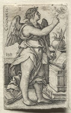 Hans Sebald Beham (1500-50) - The Knowledge of God and the Seven Cardinal…