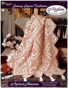 Maggie's Crochet · Apricot Illusions Afghan Crochet Pattern