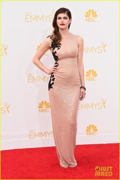 alexandra daddario at the 2014 Emmy Awards held at the Nokia Theatre L.A. Live on Monday (August 25) in Los Angeles.  …