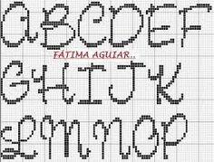 Resultado de imagem para graficos de ponto cruz alfabeto