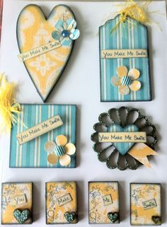 Card Candy made with Fernlidesigns.com wooden pieces