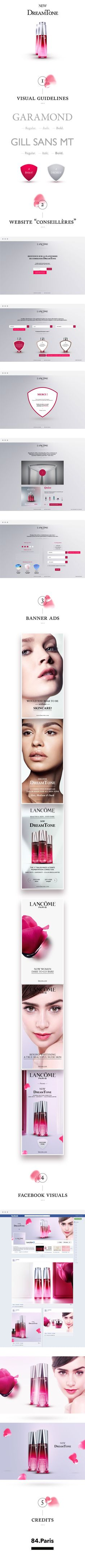 "© Lancôme Paris - ""DreamTone"" | international digital campaign - 2013.| Art Direction & Web Design |"
