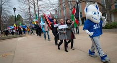 14th annual Sam and Marilyn Fox Atlas Week at SLU with the Parade of Nations