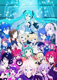 Tags: Anime, Hatsune Miku, Vocaloid, Kagamine Rin, Kagamine Len