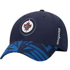 89f767b6b69 Men s Winnipeg Jets Reebok Navy 2015 NHL Draft Structured Flex Hat