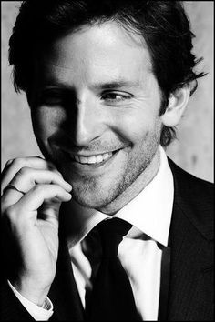 ♂ Black & white portrait man Bradley Cooper