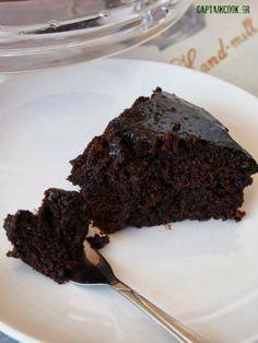 Captain Cook: Νηστίσιμη Σιροπιαστή Σοκολατόπιτα Vegan Recipes, Cooking Recipes, Vegan Vegetarian, Bakery, Food And Drink, Sweets, Chocolate, Desserts, Projects