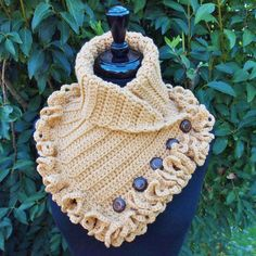 Golden Tan Toffee Victorian Steampunk Crochet by ParasolDesign, $50.00