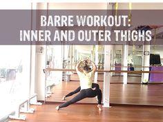 Barre Workout for Inner Thighs and Hips #barre #barreworkout #barremotivation