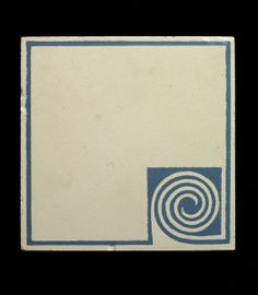 The architect and industrial designer Peter Behrens produced a number of tile designs for Villeroy and Boch. Designed following Behrens' appointment as director of the Kunstgewerbeschule in Düsseldorf in 1903, their taut geometrical patterns represent a move away from Art Nouveau towards a new vocabulary of precise abstract forms. Such tiles were used in his scheme for the Jungbrunnen restaurant at the Kunst-und-Gartenbau-Ausstellung held in Düsseldorf in 1904.