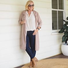 Today's #everydaystyle ... do you recognise this jacket? It's the gorgeous @primness jacket as worn by Nina Proudman on @offspringonten ... and you could win you're very own. There is just one day left to enter - follow the link in profile to last week's Nina Proudman post to find out how. #gifted #offspring Also wearing: @sassind_melbourne top; @marksandspencerau jeans; @lindatahijajewellery necklace (also seen on Nina); @frankie4footwear IZZY boots