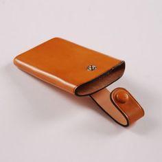 Formed Veg-tan card holder..