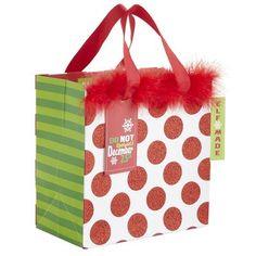 """""""Elf Made"""" Dot Holiday Gift Bag"""