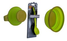 Bear Grylls camp kitchen utensils paired with Pack Bowls and Cups as well, get one today @ giftsformenoutlet.com!