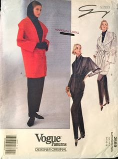 Vogue Designer Original Wrap Coat Wrap Top Taper Pants by wrapsETC